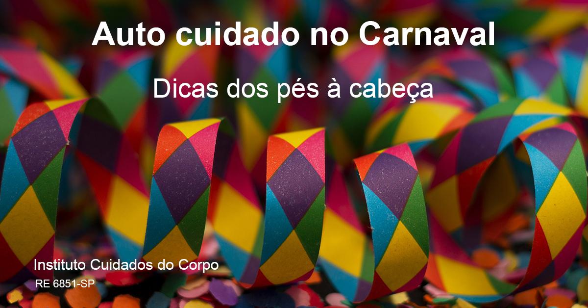 Auto cuidado no Carnaval